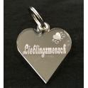 Schlüsselanhänger Herz aus Acryl Lieblingsmensch